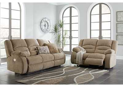 Labarre Mocha Power Reclining Sofa and Loveseat with ADJ Headrest