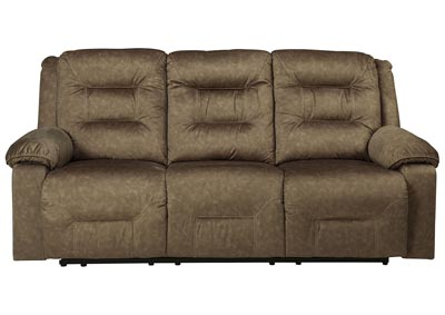 Waldheim Mocha Power Reclining Sofa w/ADJ Headrest