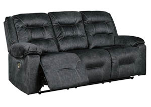 Waldheim Gray Power Reclining Sofa