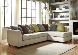Casheral Linen Right Arm Facing Chaise End Sectional