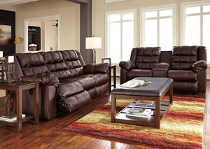 Brolayne DuraBlend Saddle Reclining Sofa & Loveseat