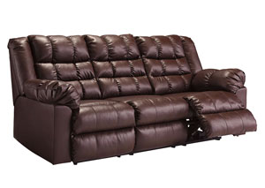Brolayne DuraBlend Saddle Reclining Sofa