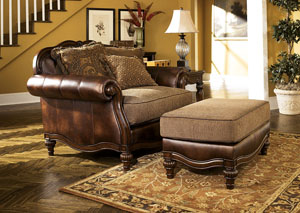 Claremore Antique Ottoman