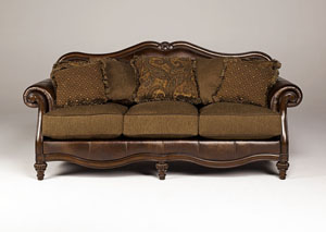 Claremore Antique Sofa,Signature Design by Ashley