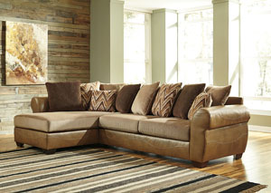 Declain Sand Sectional w/Left Facing Corner Chaise