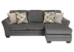 Braxlin Charcoal Sofa Chaise,Benchcraft