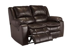 Long Knight Brown Reclining Power Loveseat