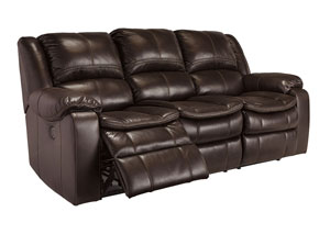 Long Knight Brown Reclining Power Sofa