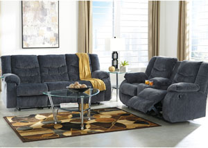 Garek Blue Reclining Sofa & Loveseat,Signature Design by Ashley