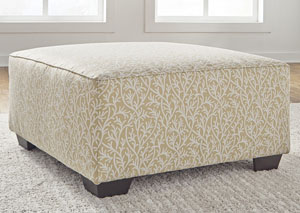 Ayanna Nuvella Sand Oversized Accent Ottoman,Benchcraft