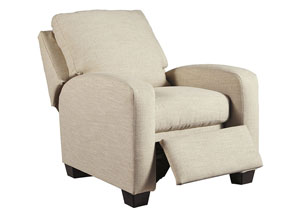 Ayanna Nuvella Sand Low Leg Recliner