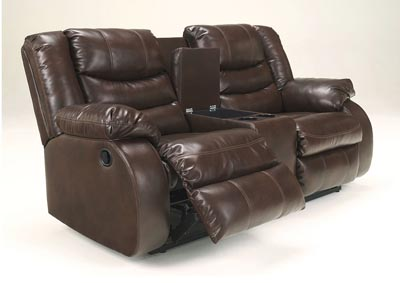 Linebacker DuraBlend Espresso Double Reclining Loveseat