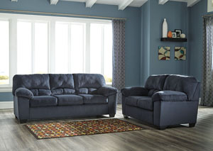 Dailey Midnight Sofa and Loveseat