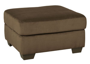 Dailey Chocolate Oversized Accent Ottoman