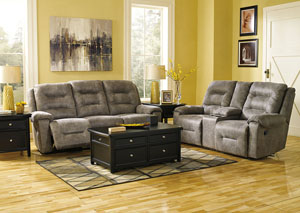 Rotation Smoke Reclining Power Sofa & Loveseat