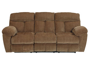 Hector Caramel Reclining Sofa,Signature Design by Ashley