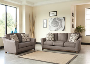 Alara Slate Sofa and Loveseat