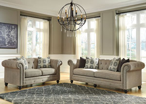 Azlyn Sepia Loveseat & Sofa