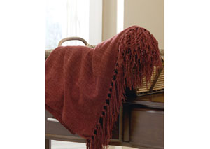 Burgundy Revere Throw,Signature Design by Ashley