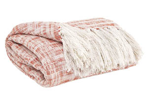 Cassbab Coral Throw,Signature Design by Ashley