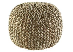 Dilip Natural Pouf,Signature Design by Ashley
