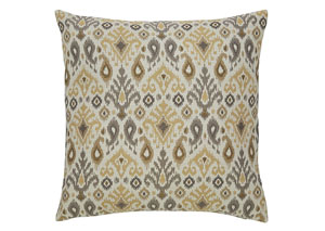 Damarion Taupe/Gold/Tan Pillow (4/CS)