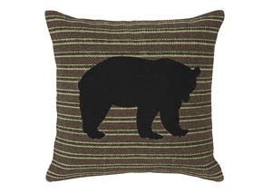 Darrell Brown/Black/Green Pillow