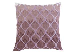 Stitched Purple Pillow
