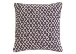 Stitched Plum Pillow