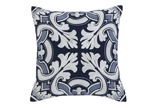 Medallion Navy Pillow,Signature Design by Ashley