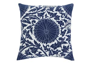 Medallion Navy Pillow (4/CS)