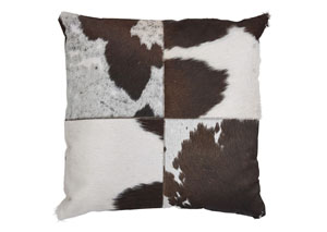 Tegan Dark Brown/White/Black Pillow (4/CS)