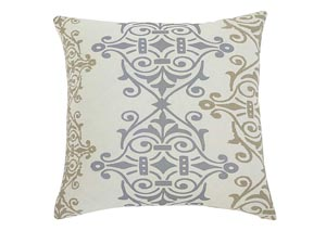 Scroll Gray/Brown Pillow (4/CS)
