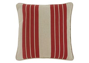 Striped Red Pillow Cover,Signature Design by Ashley