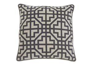 Geometric Charcoal Pillow