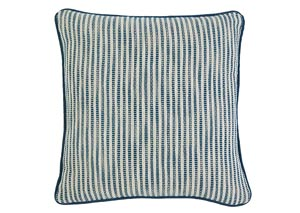 Striped Turquoise Pillow