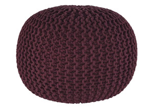 Nils Maroon Pouf,Signature Design by Ashley