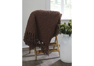 Araminta Brown Throw (3/CS)