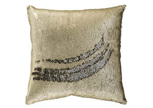 Maxandria Gold/Silver Finish Pillow,Signature Design by Ashley