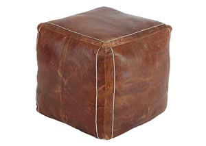 Vintage Brown Pouf
