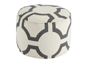 Geometric Charcoal Pouf,Signature Design by Ashley