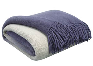 Danyl Indigo Throw (3/CS)