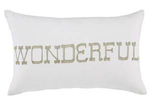 Phelan White Pillow,Signature Design by Ashley