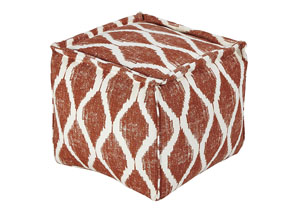 Bruce Orange/White Pouf