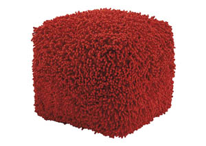 Taisce Red Pouf,Signature Design by Ashley