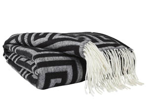 Anitra Black/Gray Throw