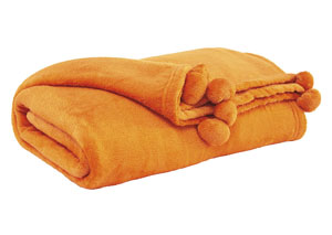 Aniol Orange Throw