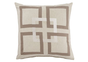 Sebec Natural 22'' x 22'' Pillow