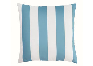 Hutto Aqua/White Pillow