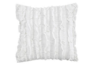 Ruffin White Pillow